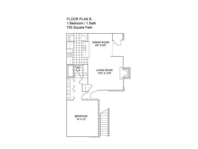 One Bedroom I 700 sqft