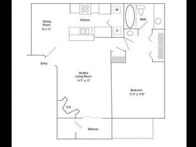 One Bedroom | 720 sqft