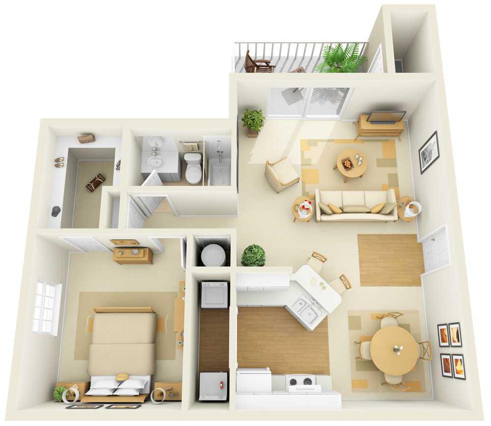 One Bedroom | 1008 sqft