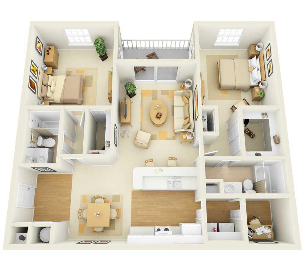 Two Bedroom | Two Bathroom | 1358 sqft