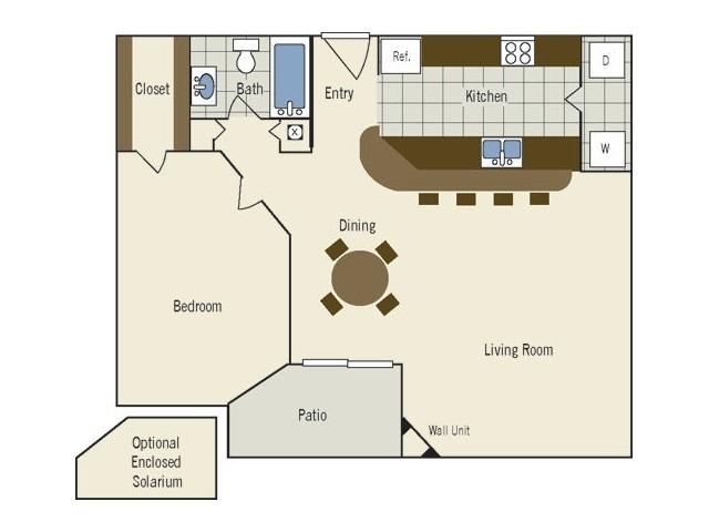 One Bedroom | 812 sqft
