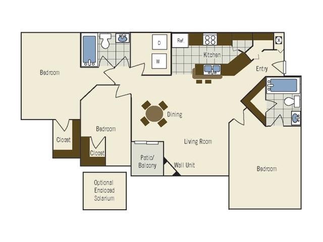 Three Bedroom | Two Bathroom | 1268 sqft