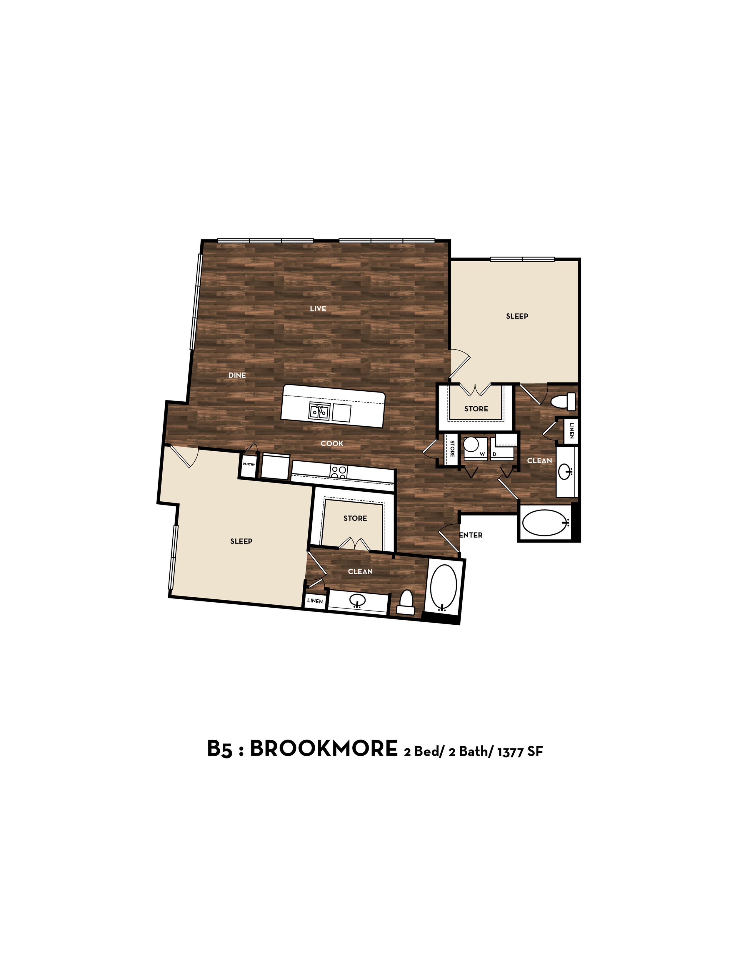 Floor Plan 12 | San Antonio Apartments | 1800 Broadway