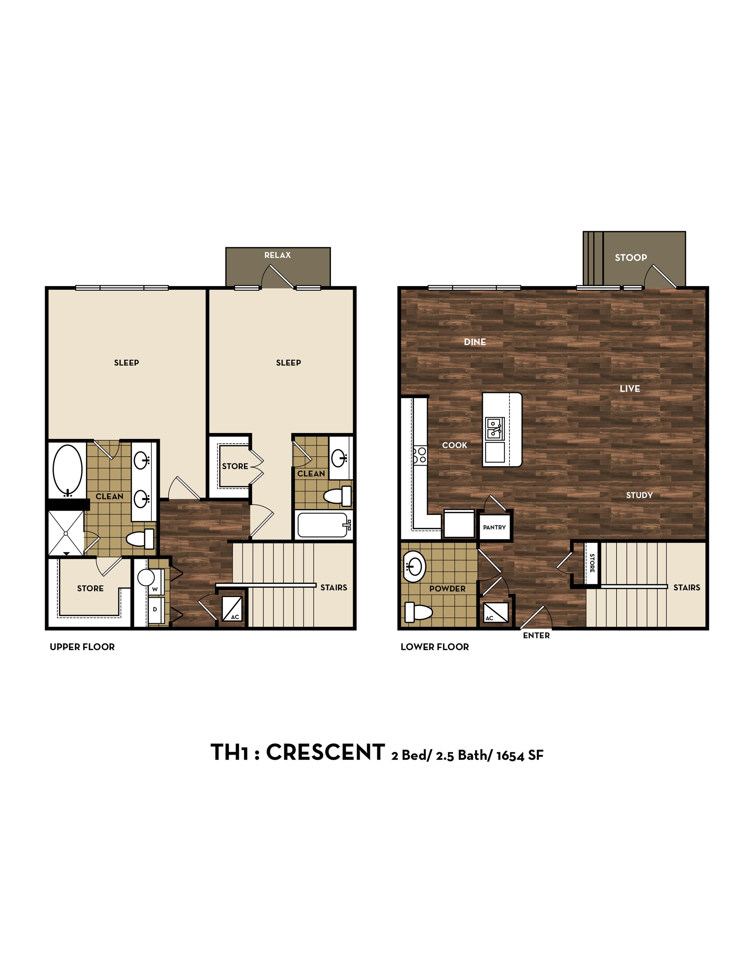 Floor Plan 13 | Luxury Apartments In San Antonio Texas | 1800 Broadway