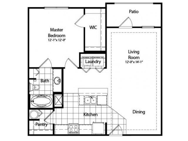 One Bedroom | Deluxe with Sunroom | 859 sqft