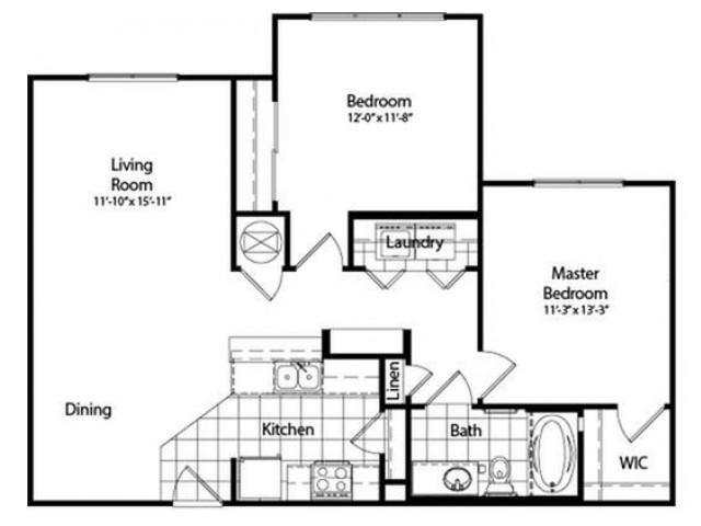 Two Bedroom | One Bathroom | 947 sqft