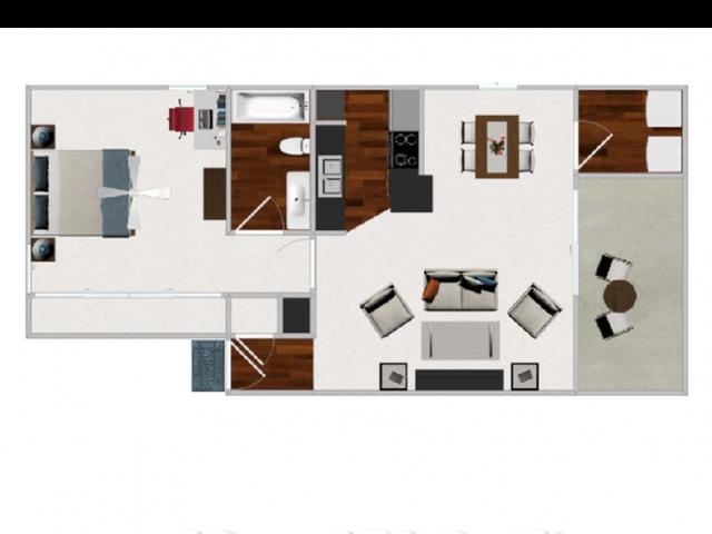 Floor Plan 4 | Apartment In Austin Texas | Cricket Hollow Apartments