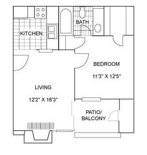 One Bedroom | 510 sqft