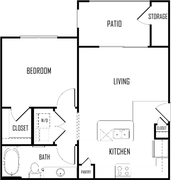 One Bedroom | 625 sqft