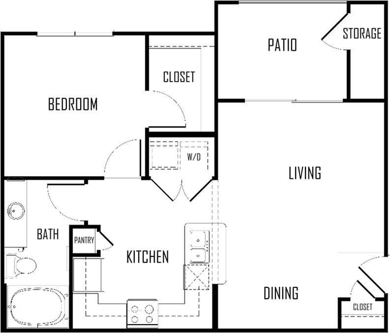 One Bedroom | 695 sqft