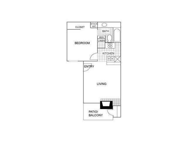 One Bedroom | 550 sqft