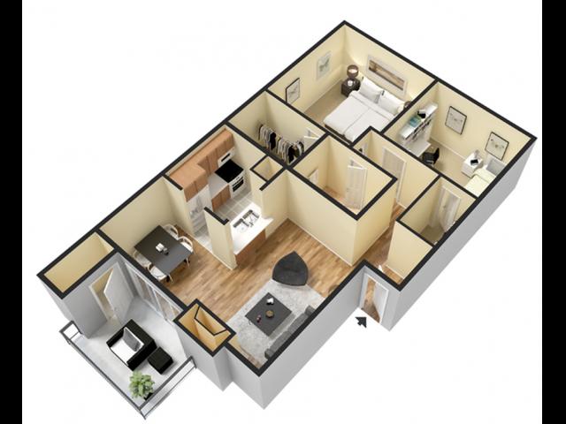 Two Bedroom | One Bathroom | 840 sqft