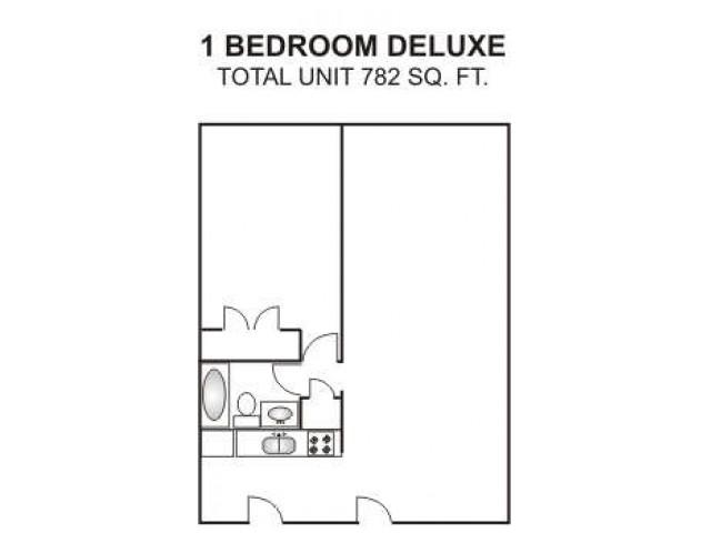 One Bedroom Deluxe   782 sqft