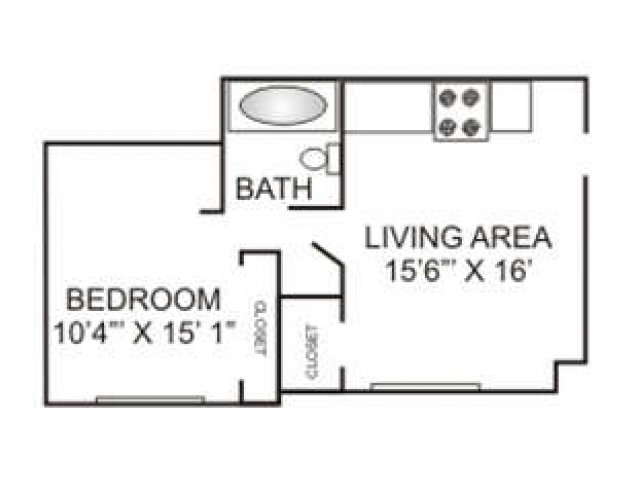 Jr. One Bedroom | 400 sqft