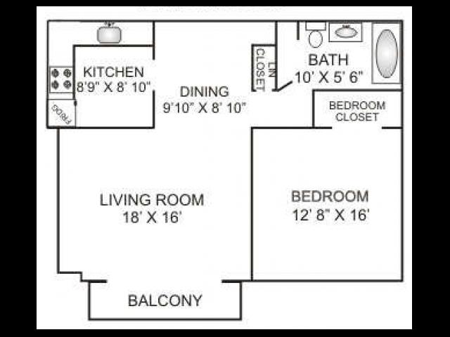 One Bedroom | 780 sqft