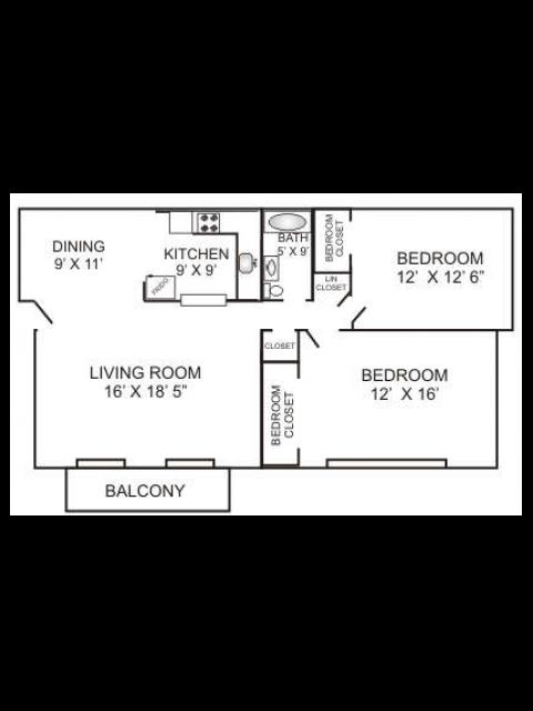 Two Bedroom | 880 sqft