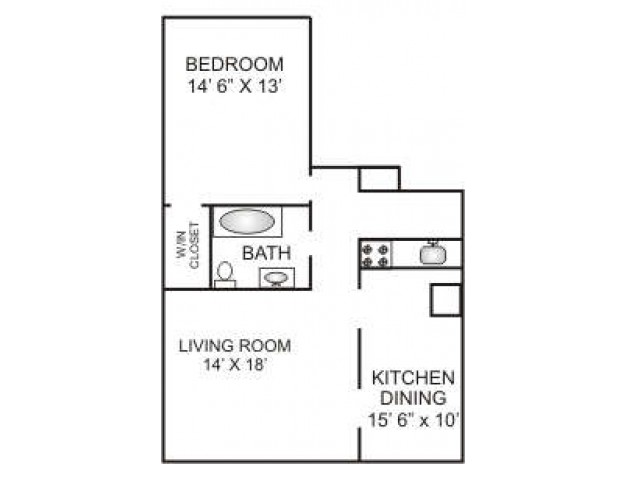 One Bedroom Deluxe | 850 sqft