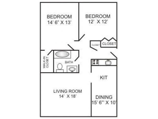 Two Bedroom Deluxe | 1000 sqft