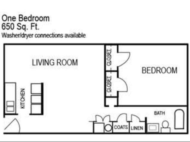 One Bedroom | 650 sqft