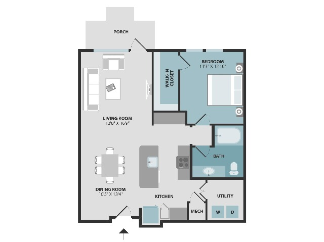 A3 | One Bedroom | One Bathroom