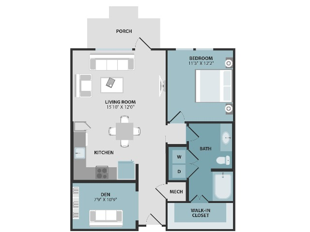 A2 | One Bedroom | One Bathroom