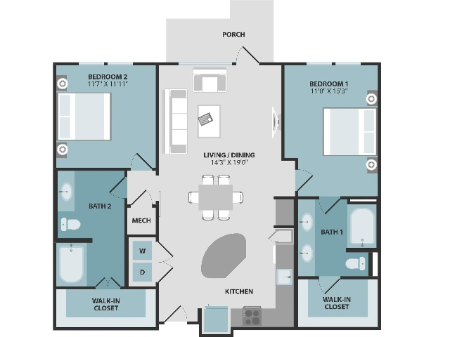 B2 | Two Bedroom | Two Bathroom