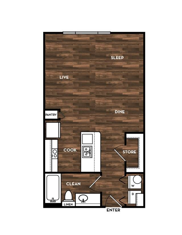 Floor Plan 1 | Luxury Apartments In San Antonio | 1800 Broadway