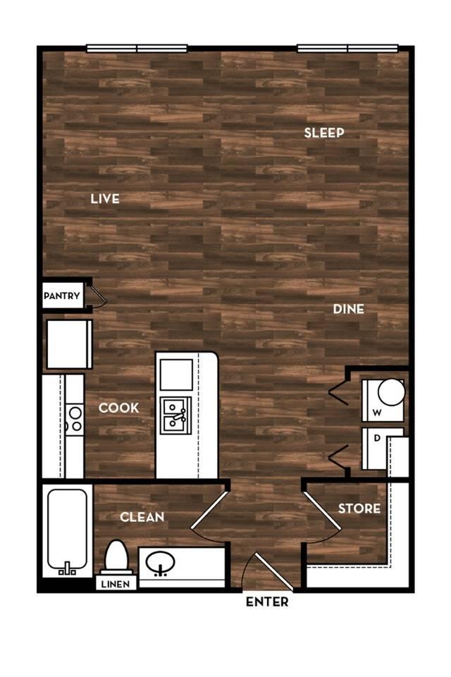 Floor Plan 2 | San Antonio Apartments | 1800 Broadway