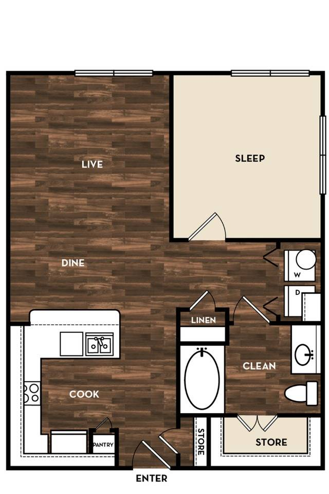 Floor Plan 4 | Apartments In San Antonio | 1800 Broadway