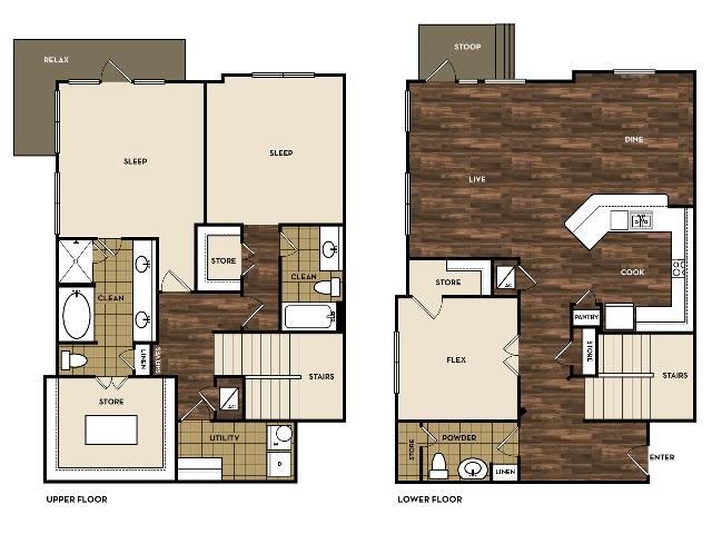 Floor Plan 14 | Apartments In San Antonio | 1800 Broadway