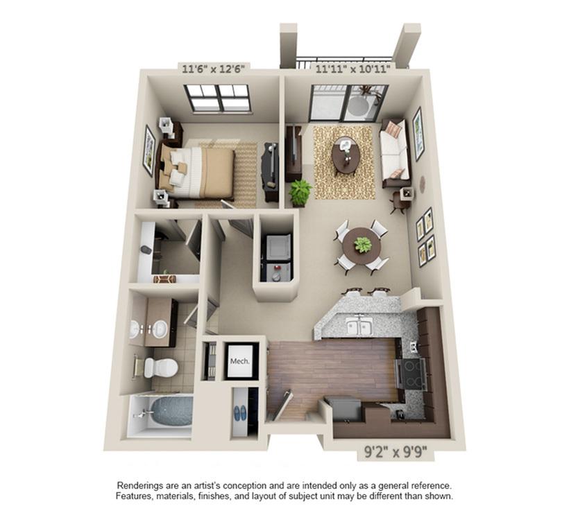 Aventura | 1 Bedroom | 1 Bath | 693-712 SF