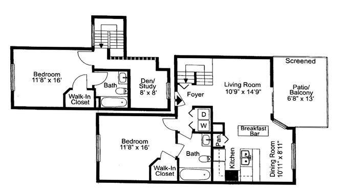 Tarpon | 2 Bedroom | 2 Bath | 1200 SF