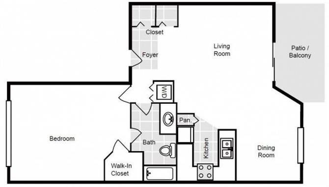 Carrol | 1 Bedroom | 1 Bath | 670 SF