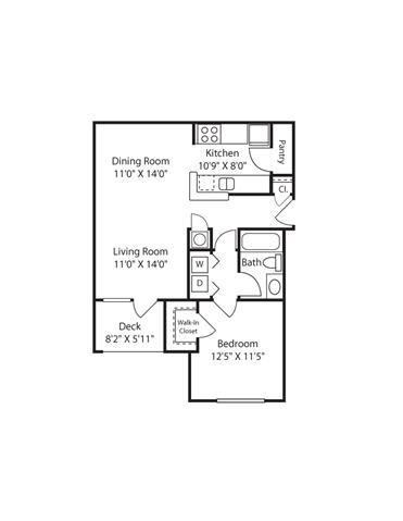 1 Bedroom | 1 Bath | 733 SF