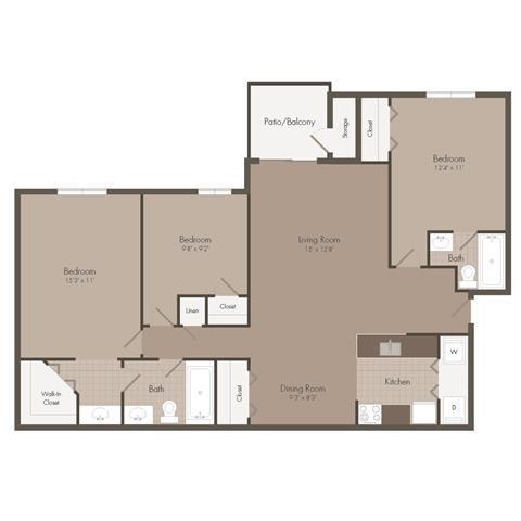 Bahamas | 3 Bedroom | 2 Bath | 1129 SF