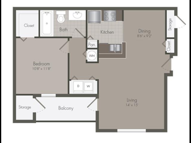 Abbey | 1 Bedroom | 1 Bath | 812 SF