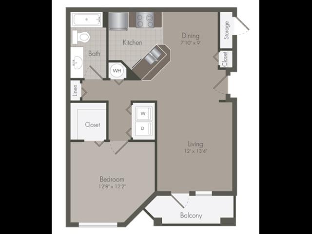 Alden | 1 Bedroom | 1 Bath | 843 SF