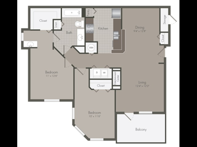 Beacon | 2 Bedroom | 1 Bath | 1090 SF