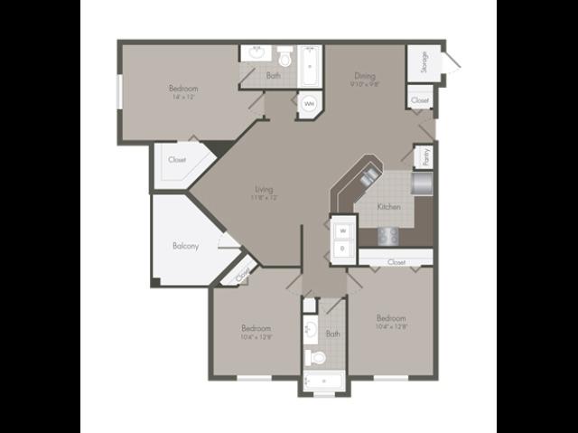 Euclid | 3 Bedroom | 2 Bath | 1377 SF