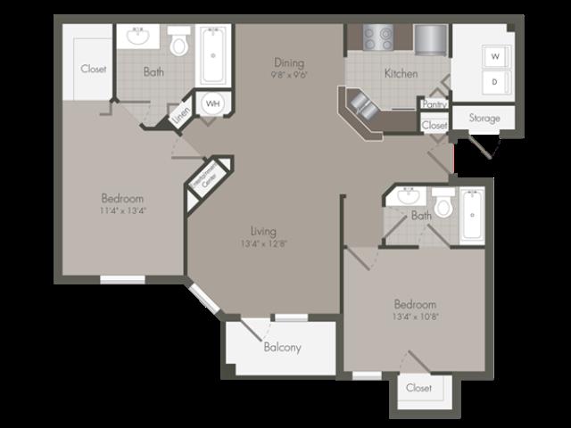 Carlyle | 2 Bedroom | 2 Bath | 1161 SF