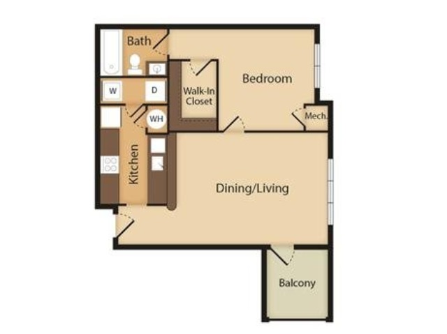 Conch | 1 Bedroom | 1 Bath | 769 SF
