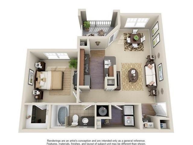 Marion | 1 Bedroom | 1 Bath | 754 SF