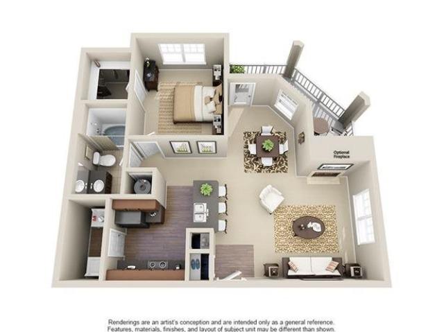 Murray | 1 Bedroom | 1 Bath | 833 SF