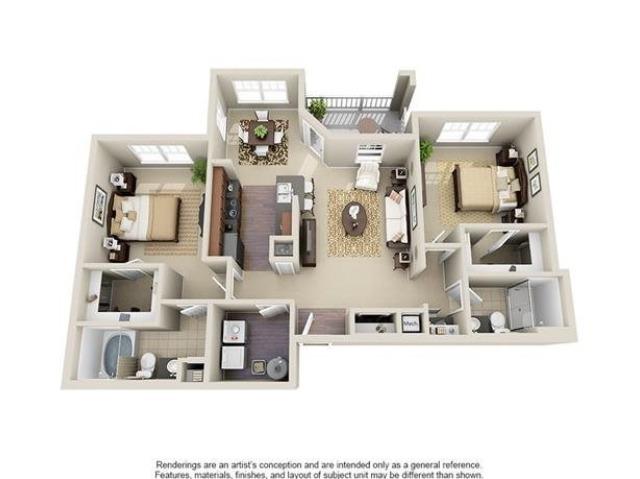 Greenwood | 2 Bedroom | 2 Bath | 1150 SF