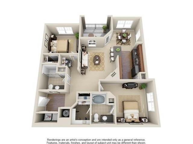 Wateree | 2 Bedroom | 2 Bath | 1176 SF