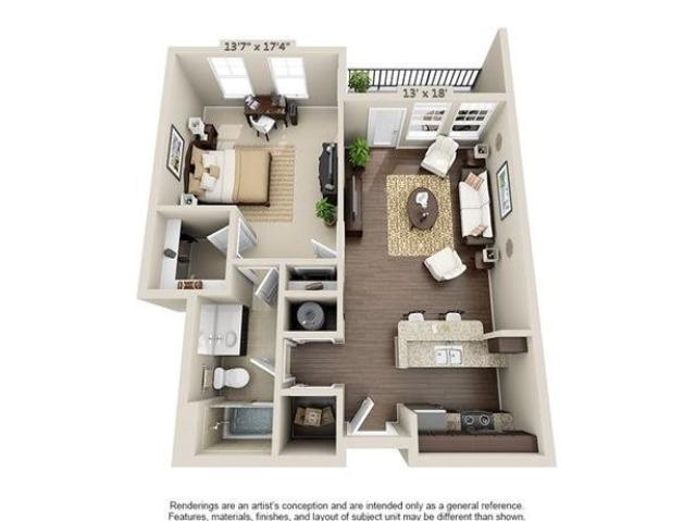 Etiwan | 1 Bedroom | 1 Bath | 760 SF