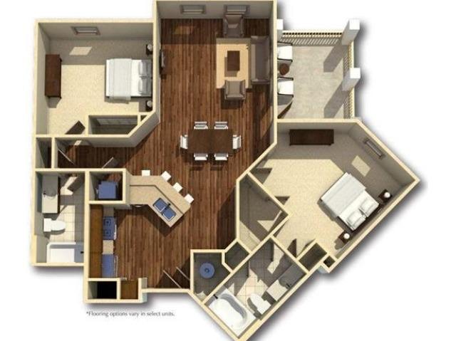 Wando | 2 Bedroom | 2 Bath | 1044 SF