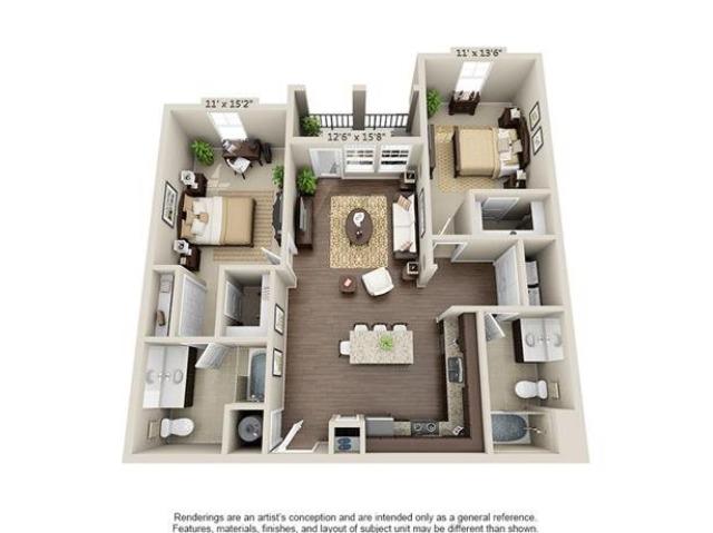 Bereford | 2 Bedroom | 2 Bath | 1137 SF