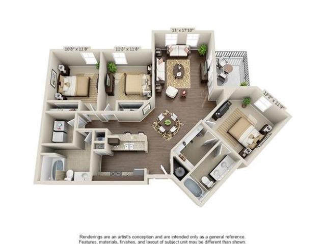 Simmons | 3 Bedroom | 2 Bath | 1311 SF