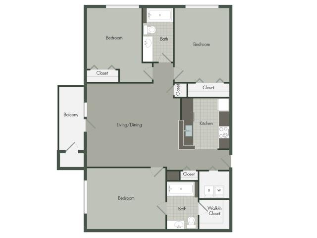 3 Bedroom | 2 Bath | 1125 SF